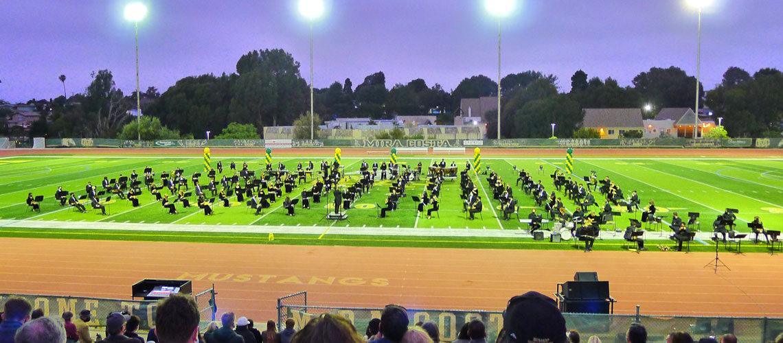 Mira Costa Band football field
